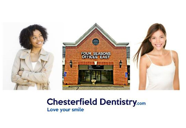 chesterfield dentistry office with two happy patients